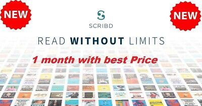 Scribd Premium Account 1 Month (1 Month) Warranty - Shared - Instant Delivery