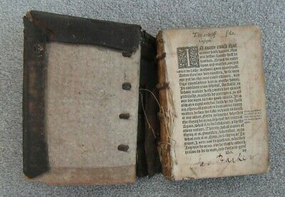 Very Early 17th or 18th Century Antique Leather Bound Book The Art of Logic