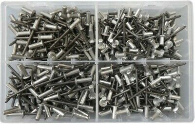 Assorted 4.8mm Sealed Closed End Dome Head Alum Steel Blind Pop Rivets QTY 400