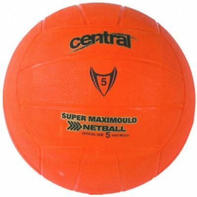 Central. Super MaxiMould Rubber Training Netball for School & Club. Size 3 or 5