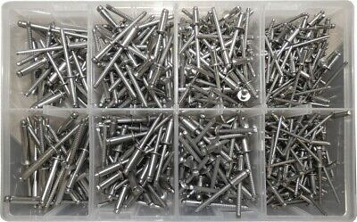 Assorted Stainless Steel 3.2mm 4mm & 4.8mm Blind Dome Head Pop Rivets QTY 500