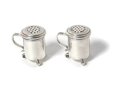 Silver salt shaker and pepper shaker. Norway, Kristian Hestenes.