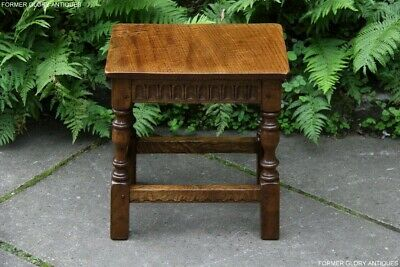 A Nigel Rupert Griffiths Monastic Carved Oak Phone Tea Wine Coffee Table Stand