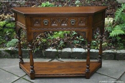 An Old Charm Light Oak Canted Phone Lamp Hall Table Stand Sideboard Dresser Base