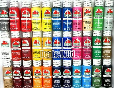 1 Acrylic Paint 2oz Matte Apple Barrel - Many to Choose Own Set Assorted Colors