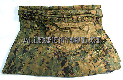 "USMC Military MARPAT Woodland Digital COYOTE REVERSIBLE FIELD TARP 90""x80"" GC"