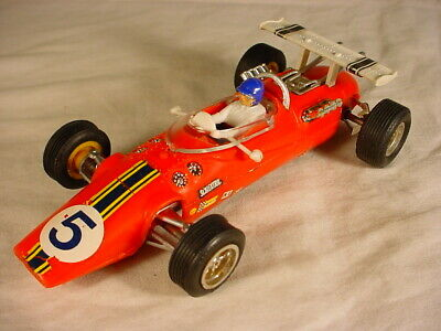 Vintage Scalextric Lotus Indianapolis #5 Red C8 VG