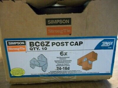 Simpson Strong Tie BC6Z Post Cap  6x, box of 10, Hot  dipped FREESHIP