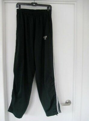 ORIG Vtg Michigan State Spartans NCAA Basketball Warm Up Pants game used ticket