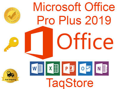 Microsoft Office 2019 Professional Plus 32/64 Key and download INSTANT DELIVERY
