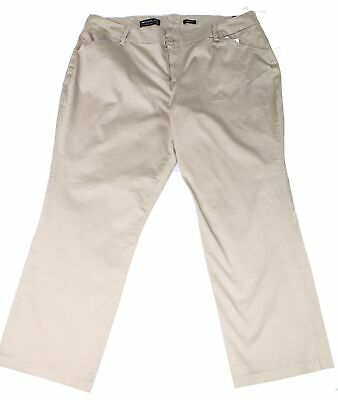 Lee Womens Beige Size 24 Khakis Chinos Stretch Curvy Fit Modern Series $70 425