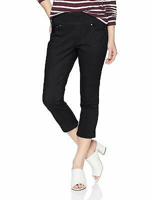 Jag Jeans NEW Black Womens Size 6P Petite Straight Cropped Stretch Pants $69 875