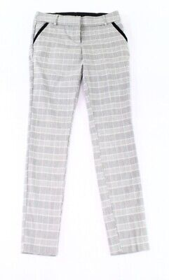 Leighton Pants Gray Size 5 Junior Dress Mid-Rise Plaid-Print Stretch $46 303