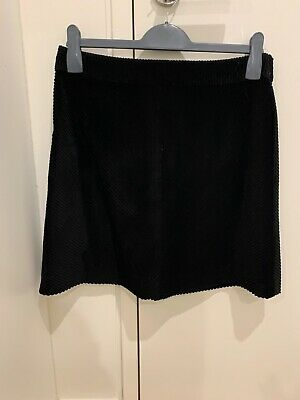 Witchery Cord Skirt Black Size 10