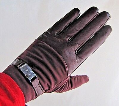 ECHO TOUCH* Thinsulate 40g Leather/Nylon iPhone Gloves in Maroon ~ Medium
