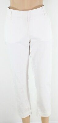 Eileen Fisher Women's Pants White Size Small S Capris Cropped Stretch $148- #140