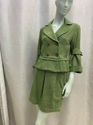 Green Jacket and Skirt - Size 8