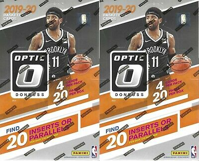 (2) 2019-20 Donruss Optic Basketball NBA Trading Cards Sealed NIB Retail Boxes