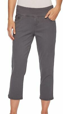 JAG Jeans Women's Pants Charcoal Gray Size 16X23 Capris Cropped Stretch $69 #982