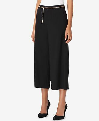 Tahari by ASL Women's Black Size 16 Wide Leg Dress Pants Stretch $99- #269