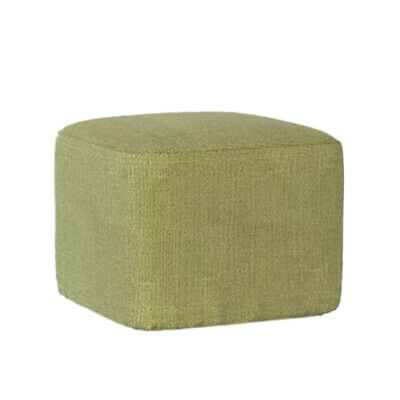Wood Square Seating Footstool Ottoman Pouffe Chair Cover, Slipcover, Sleeve