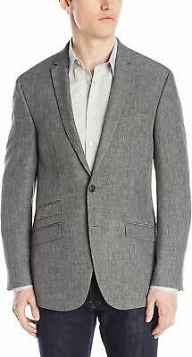 Andrew Fezza Mens Blazer Gray Size 40 Two-Button Notched Collar $295 #298