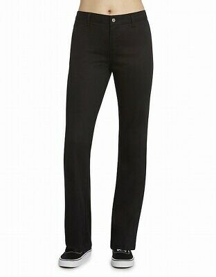 Dickies Pants Black Size 5 Junior Mid Rise Bootcut Chinos Stretch $34- 865