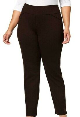 Charter Club Womens Pants Brown Size 22W Plus Tummy-Slimming Stretch $69 247
