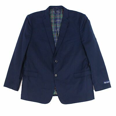 Designer Brand Mens Blazer Navy Blue Size 40 Regular Two Button $90 #966
