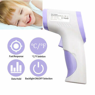 10X IR Infrared Digital Forehead Thermometer Non-Contact Baby/Adult Thermometer