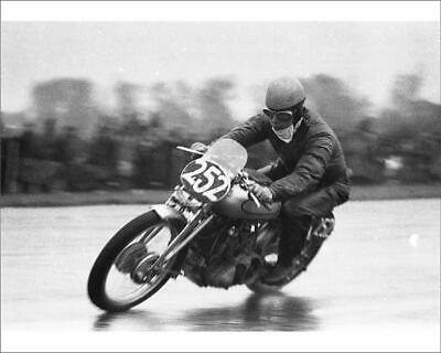 "10""x8"" (25x20cm) Print of John Surtees (Vincent) 1952 Thruxton from"
