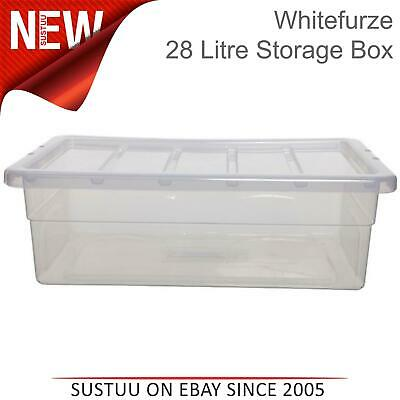 Whitefurze 56cm Spacemaster Underbed 28 Litre Home Plastic Storage Box/Container