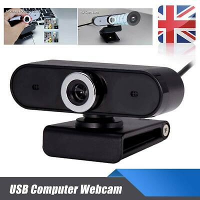 USB 2.0 Computer Webcam HD Video Camera PC Digital Webcam With HD Microphone UK