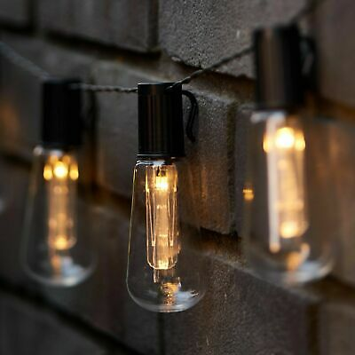 20 30 50 LED Solar Power Retro Bulb Teardrop Fairy String Lights Garden Outdoor