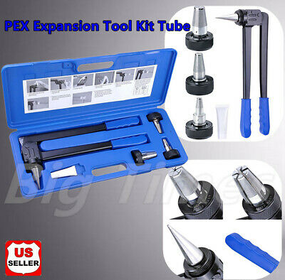 "PEX Expansion Tool Kit Tube Expander with 1/2"" 3/4"" 1""  Precision Expansion Head"