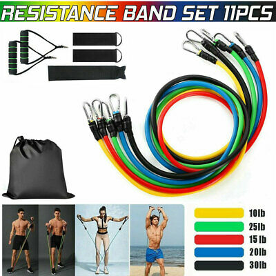11Set Resistance Bands Workout Exercise Yoga Crossfit Fitness Training Tubes