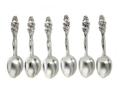 "Silver coffee spoons, 6 pcs. ""Rose of Hildesheim"", Sweden, year 1946"