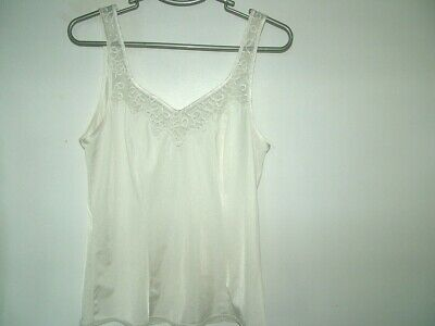Cream Camisole top 14 Marks & Spencer, lace inset, wider straps, vgc