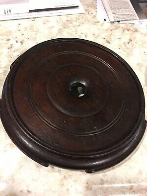 Old or Antique  Chinese Footed Hardwood Wood Stand For Vase or Bowl
