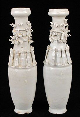 Chinese Song-Sung Dynasty pair of Qingbai glazed funerary urns