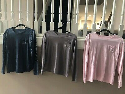3 Women's Vineyard Vines and Ivory Ella Long Sleeve Size Small T-Shirts - Nice!