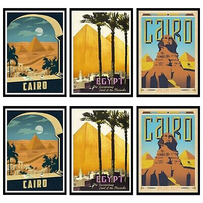 Vintage EGYPT CAIRO Travel Retro Posters Prints Art Tourism Holiday Home Decor