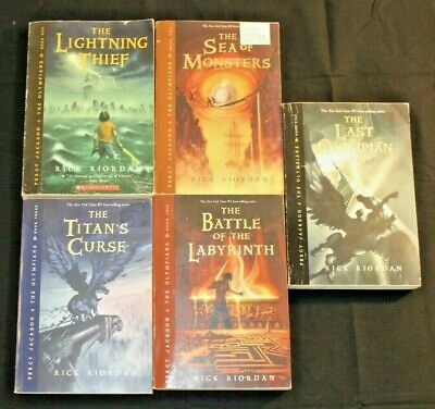 Rick Riordan Percy Jackson And The Olympians Series Books Complete Set 5 PB
