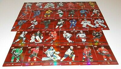 2019-20 UD Tim Hortons Red Die Cut Set(33)-Crosby, Ovechkin, McDavid, McKinnon +