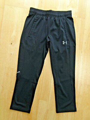 UNDER ARMOUR boys black tracksuit trousers SMALL YOUTH AGE 6 - 7 YEARS