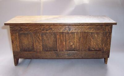 Antique Vintage OAK WOOD Wooden TRINKET BOX Chest - Hand Crafted