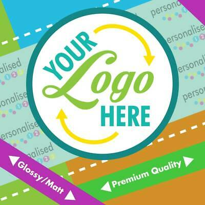 Custom Logo Printed Personalised  Round Stickers Labels Glossy Postage Business