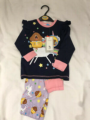 Girls 4-5 Years Hey Duggee Pyjamas New TU Navy Blue Unicorn