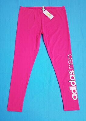 ADIDAS NEO Baumwoll-Leggins Gr. XL 42 pink Leggings NEU TOP Hose Tights Cotton