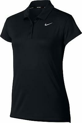 Nike Girls' Victory Golf Polo Top Black Size Large L Short Sleeve $30 423